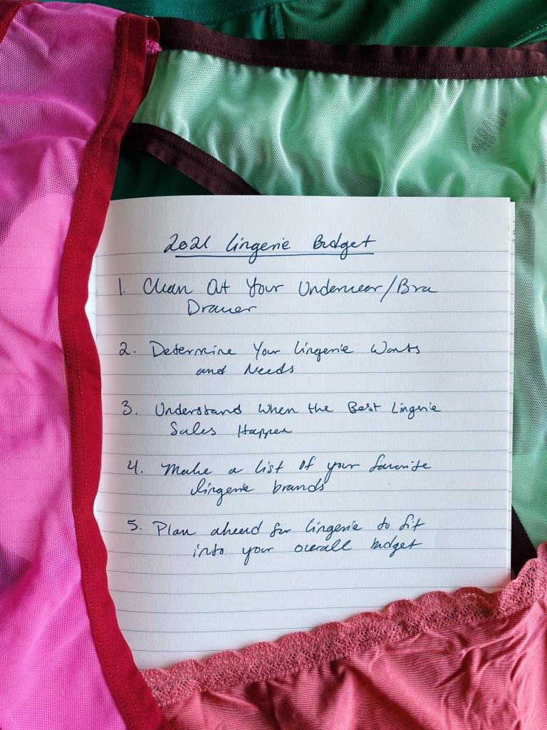 lingerie budget for 2021